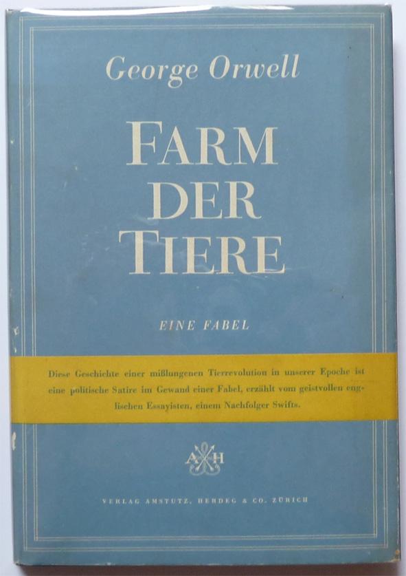 """Buchdeckel der Fabel """"Farm der Tiere"""""""
