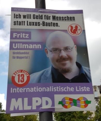 Plakat von Fritz Ullmann im Bundestagswahlkampf 2017